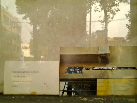 Jimena Orozco, _Nomenclatura urbana_, 2012.