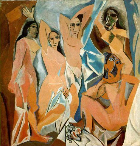 Pablo Picasso, Les Demoiselles d'Avignon, 1907.